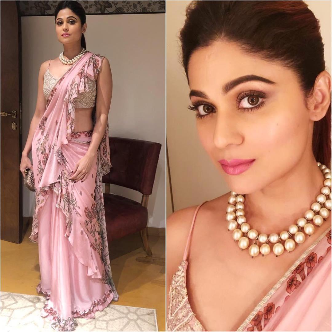 Shamita Shetty in pink saree: Hot Looks of Bollywood Actresses in Sarees
