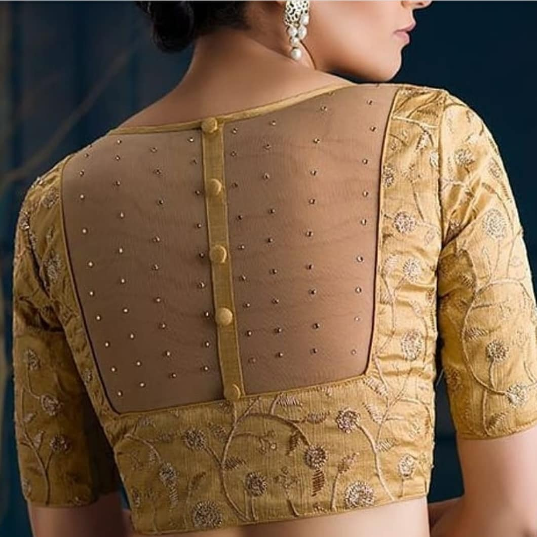Sheer back blouse design: Blouse Back Designs for Modern Womens