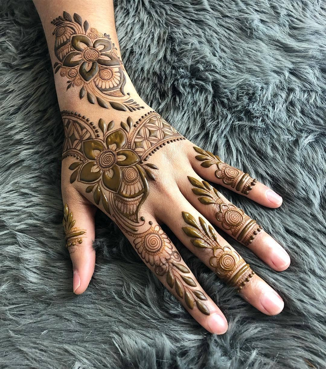 Breathtaking backhand design: Simple Mehendi Designs for Any Special Occasion