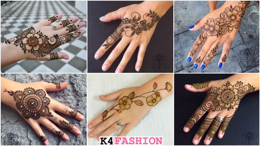 Easy Mehndi Designs Collection For Hand 2020 K4 Fashion