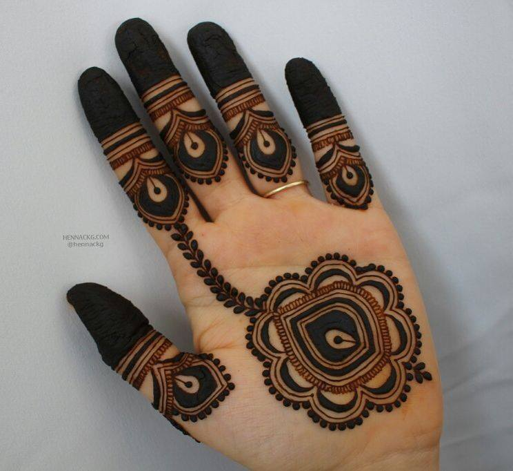 floral hanging arabic new simple mehndi designs for hands