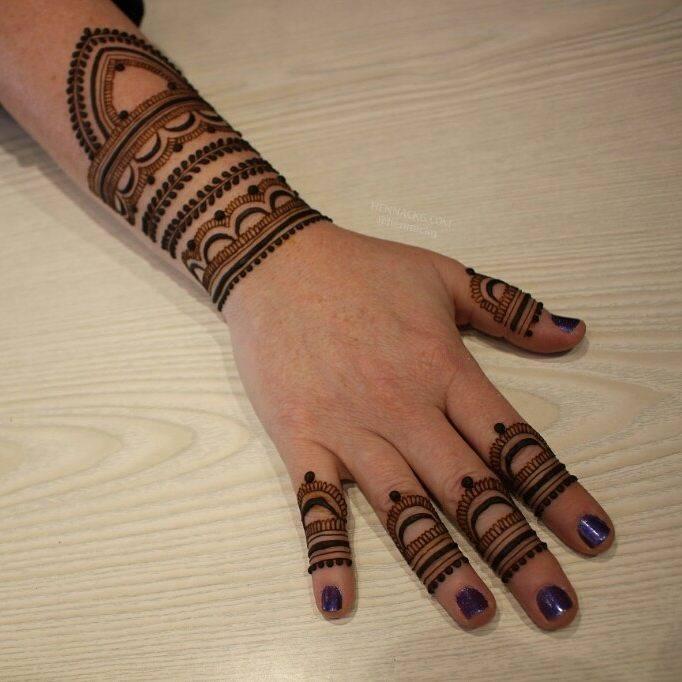 arabic new simple mehndi designs for full hand