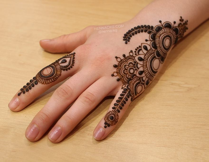 tailed pattern for finger arabic new simple mehndi designs for hands