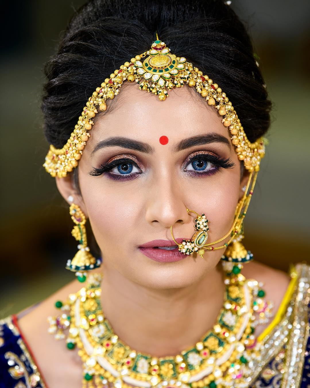 Soft glam makeup look: Indian Bridal Makeup Look in Celeb Style