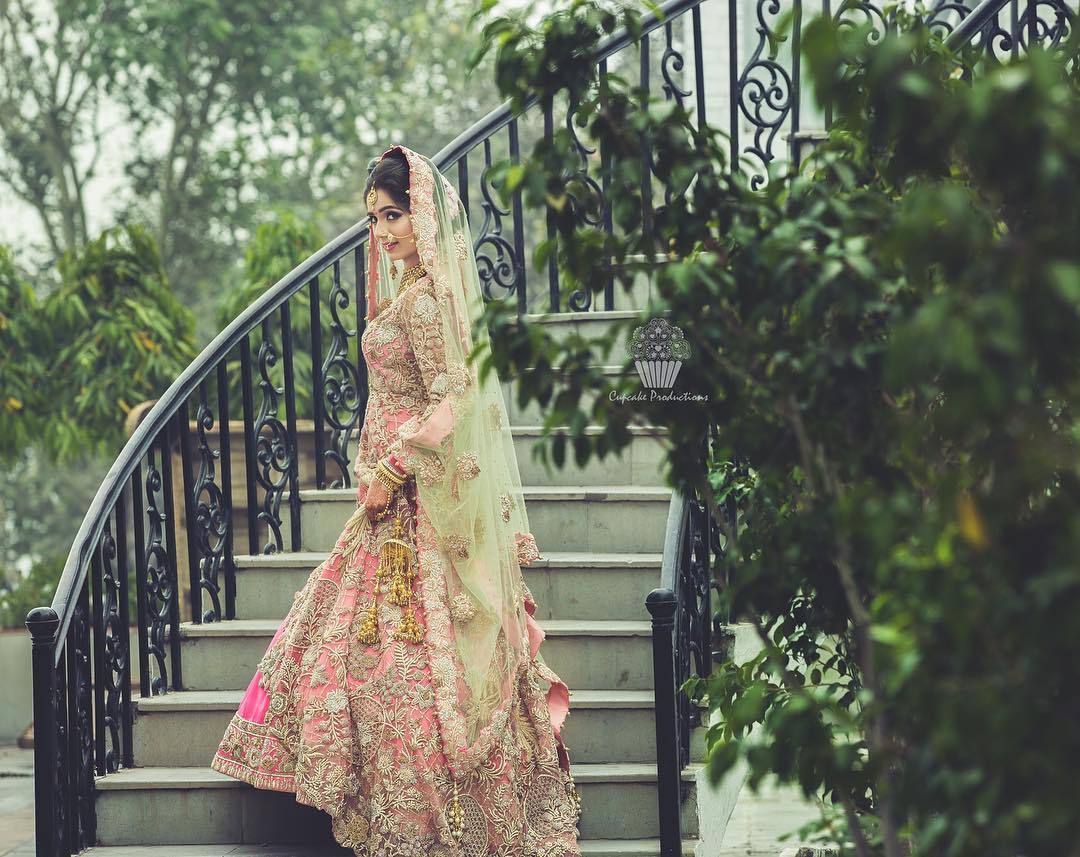 Heavily embroidered frock Designer Bridal Lehengas for Indian Wedding