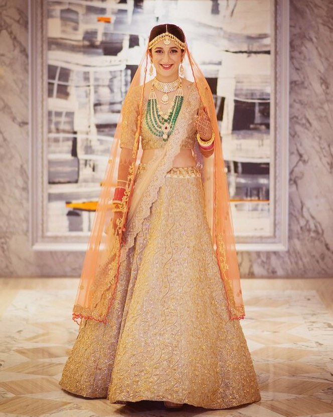 Whole life is golden Designer Bridal Lehengas for Indian Wedding