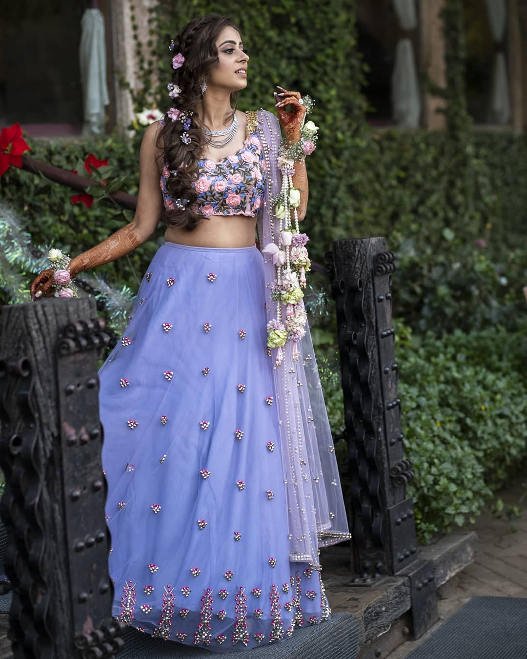 Charming lavender: Light Lehenga Designs for Bride & Bridesmaid