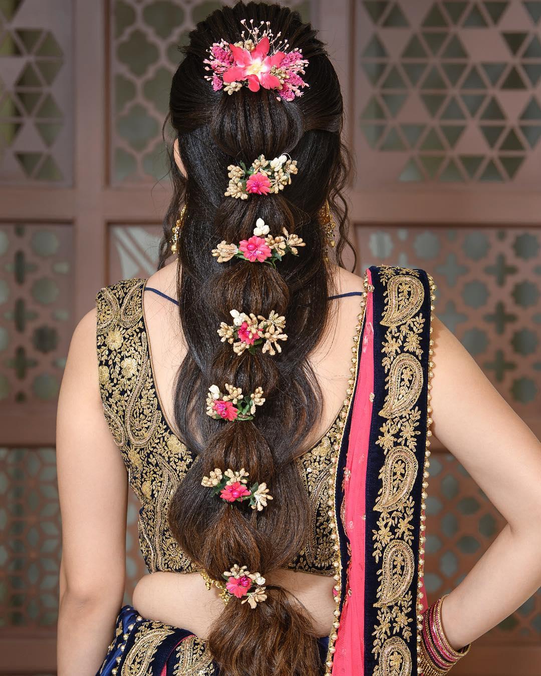 Floral hairstyles for Haldi and Mehendi Ceremonies!