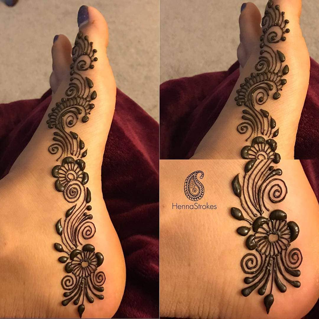 Easy and quick mehendi design: Modern Henna Mehndi Designs For Legs