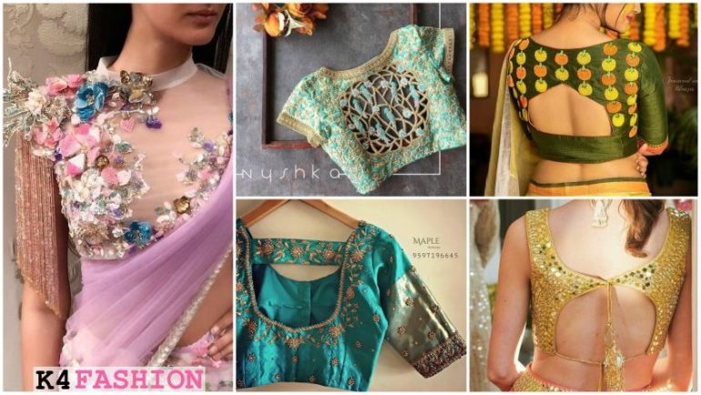Stylish Blouse Designs for Wedding Saree