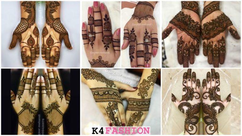 Rajasthani full hand mehndi designs for Gangaur Festival
