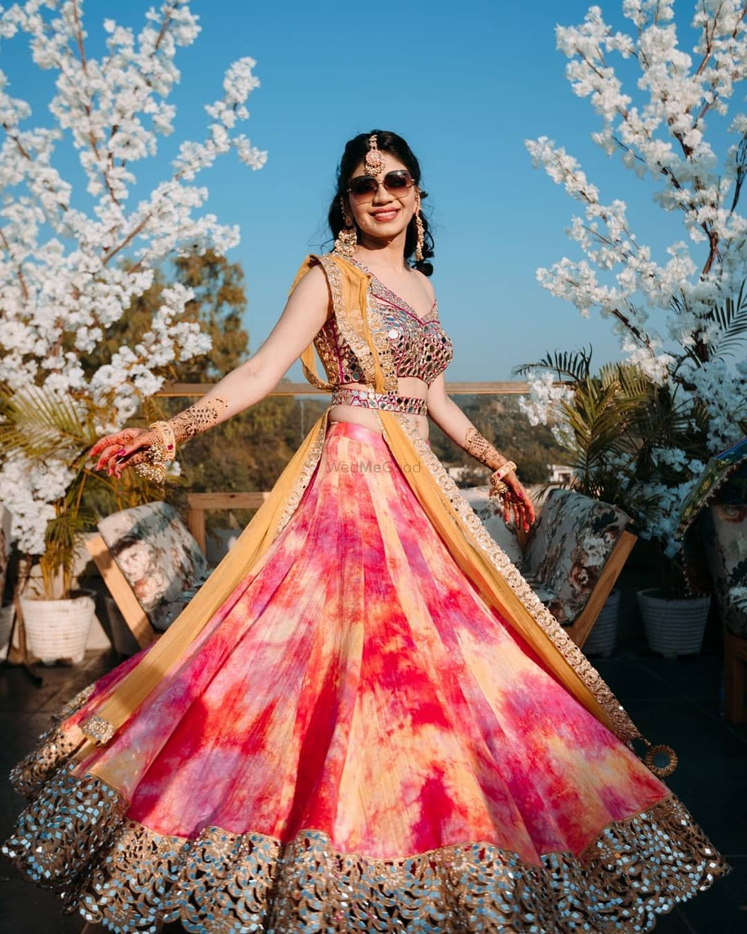 Tie-dye lehenga design: Light Lehenga Designs for Bride & Bridesmaid