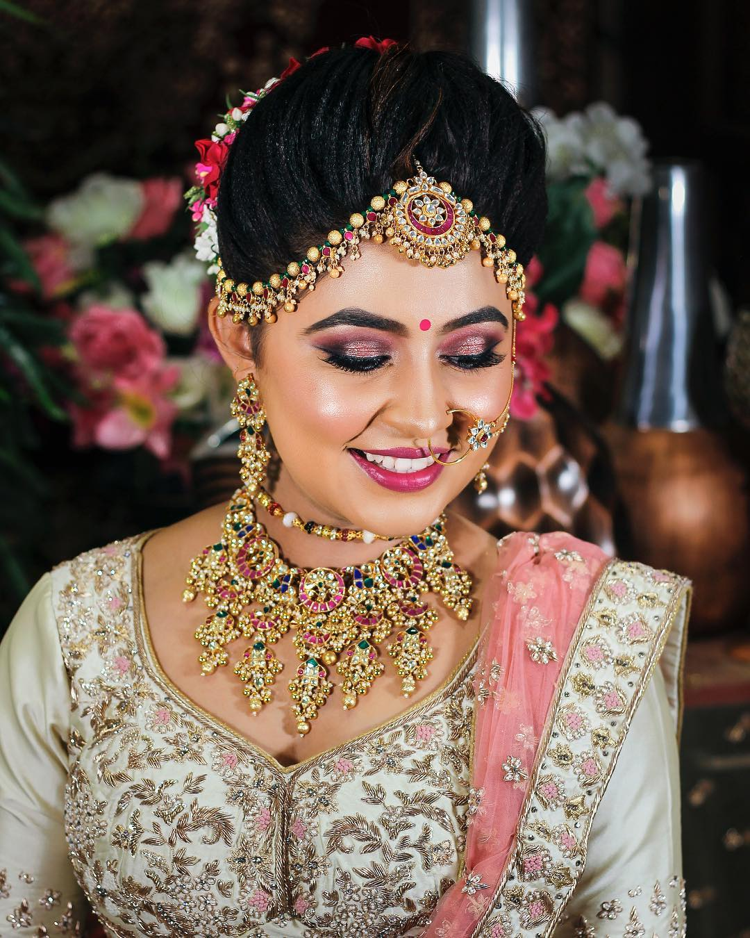 All shades of pink makeup look: Indian Bridal Makeup Look in Celeb Style