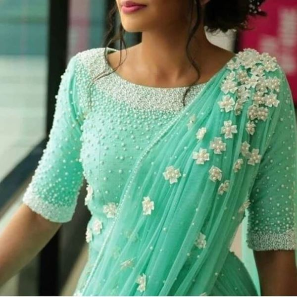 Beaded blouse design: Modern Blouse Designs for Your Gorgeous Look