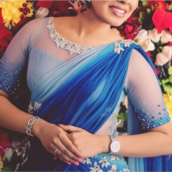 Embroidered neck blouse design: Modern Blouse Designs for Your Gorgeous Look