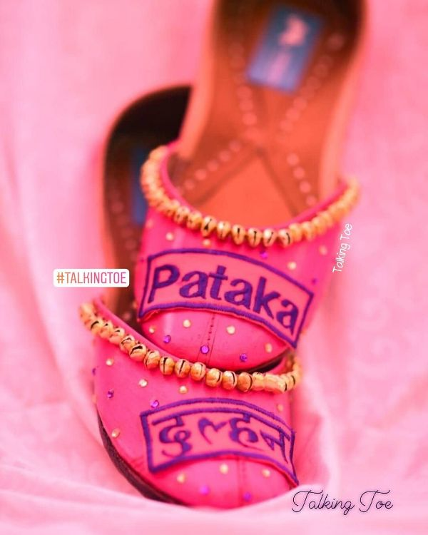 Pink embellished juttis Trendy Bridal Jutti Designs with Personalised Touch