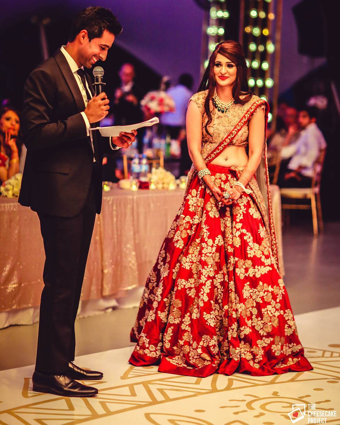 The classic red Designer Bridal Lehengas for Indian Wedding