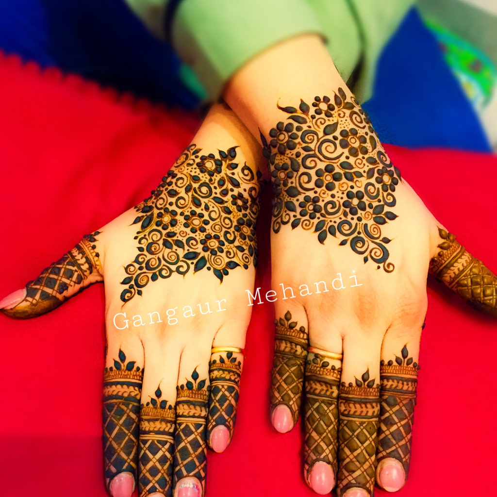 Hand ornament Rajasthani full hand mehndi designs for Gangaur Festival