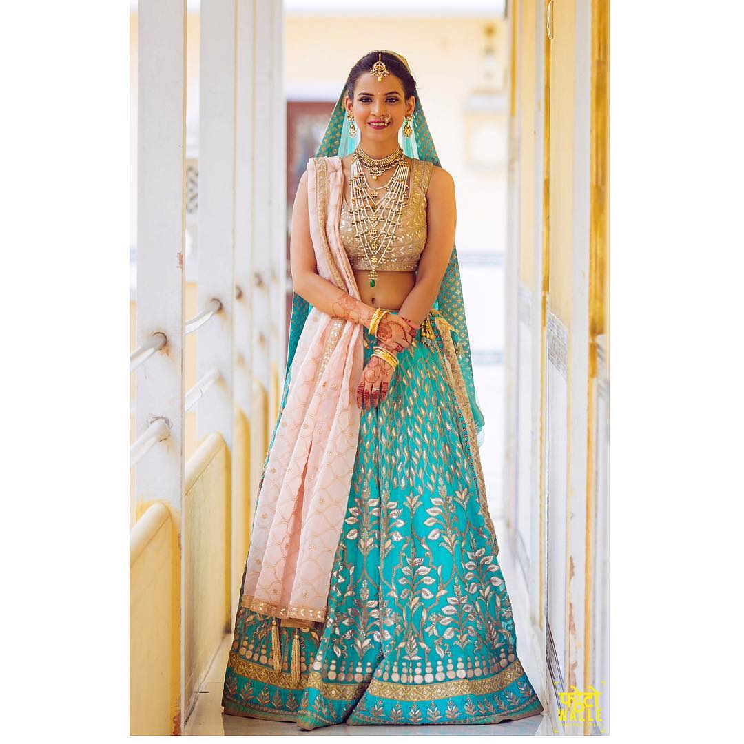 Designer Bridal Lehengas for Indian Wedding  Cool in blue