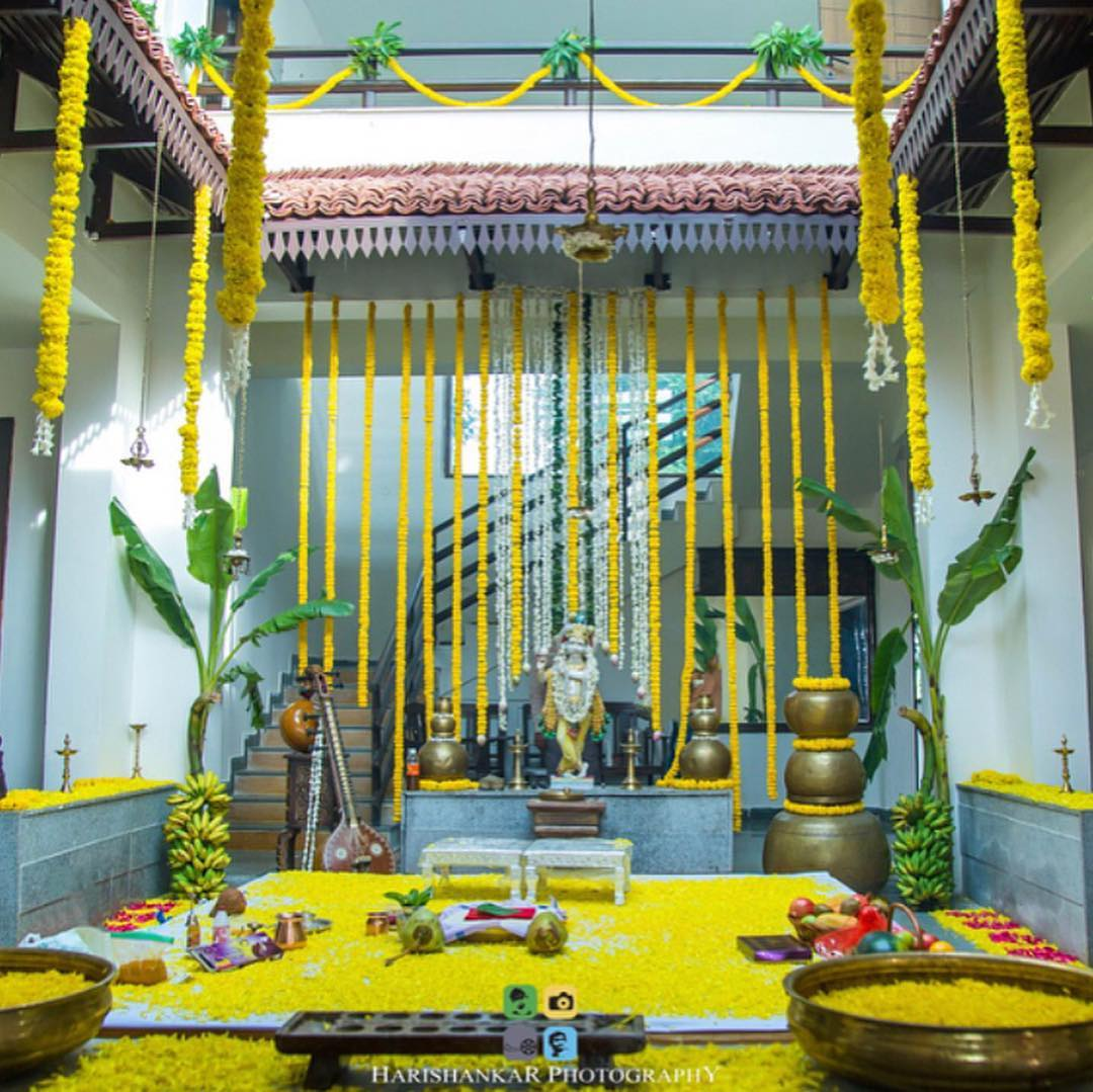 Yellow flowers mandap design Simple & Stylish Decoration Ideas for Haldi Function