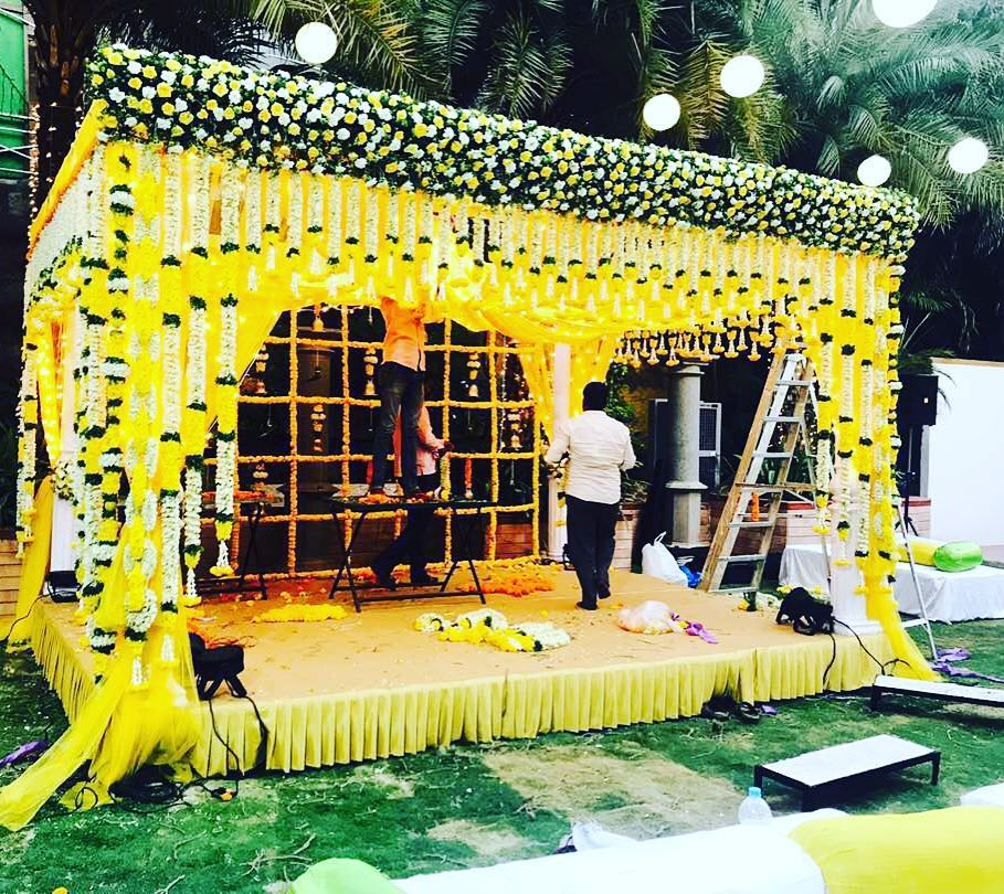 Floral mandap design Decoration Ideas for Haldi Function  Simple & Stylish Decoration Ideas for Haldi Function