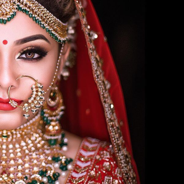 image free download simple bridal look jewellery makeup bangles necklace gold mehndi nath eye