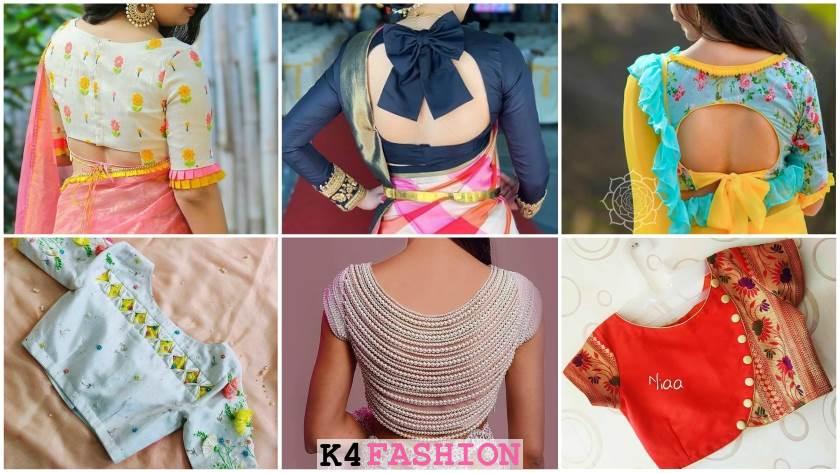Saree Blouse Back Neck Side Designs