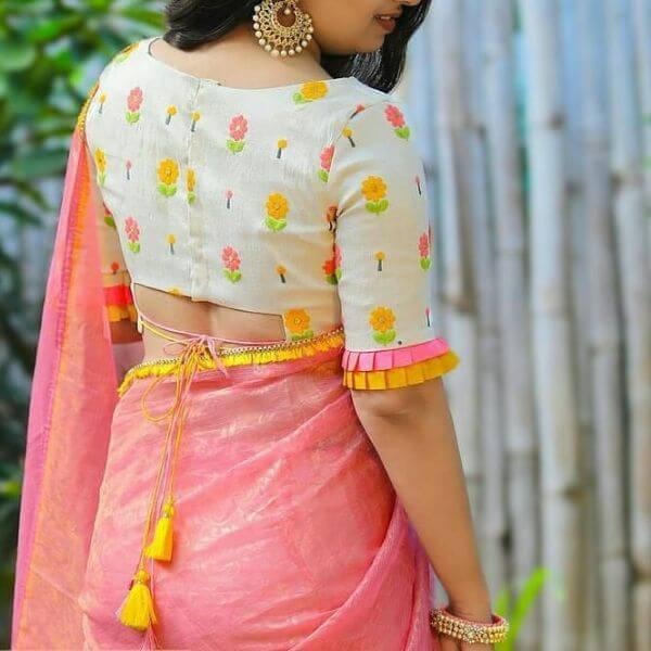 The low cut blouse back design Fancy Saree Blouse Back Neck Designs for Indian Women