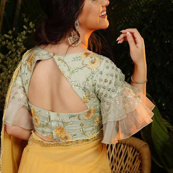 Trendy cut out back blouse design Fancy Saree Blouse Back Neck Designs for Indian Women