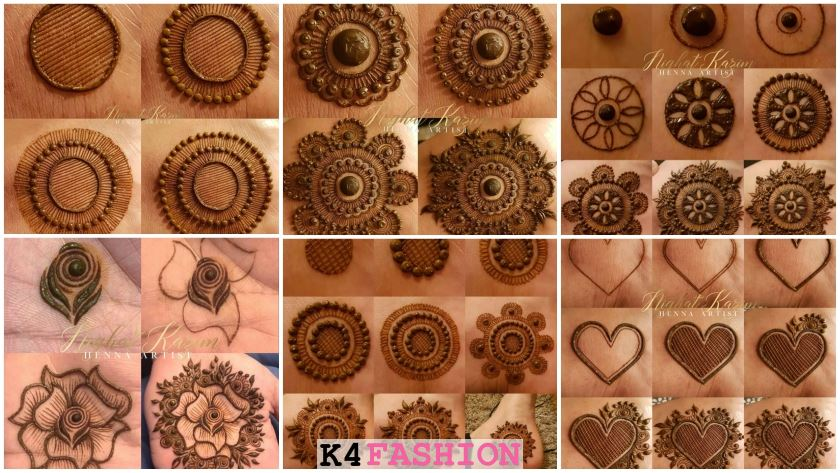 simple Mehndi designs Step by step tutorial