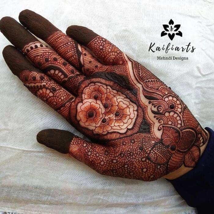 floweryMehndi desig Bridal Mehndi Designs for Front Hand