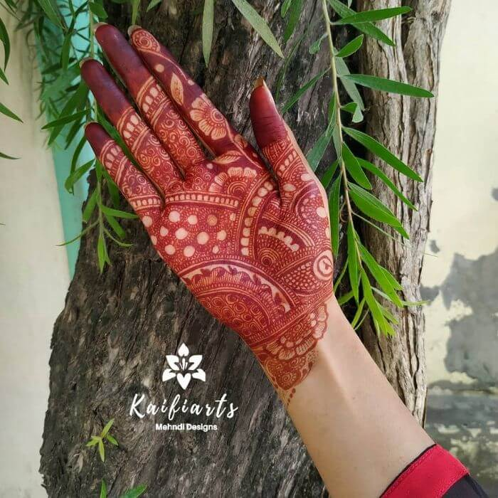 Mehndi design for front hand