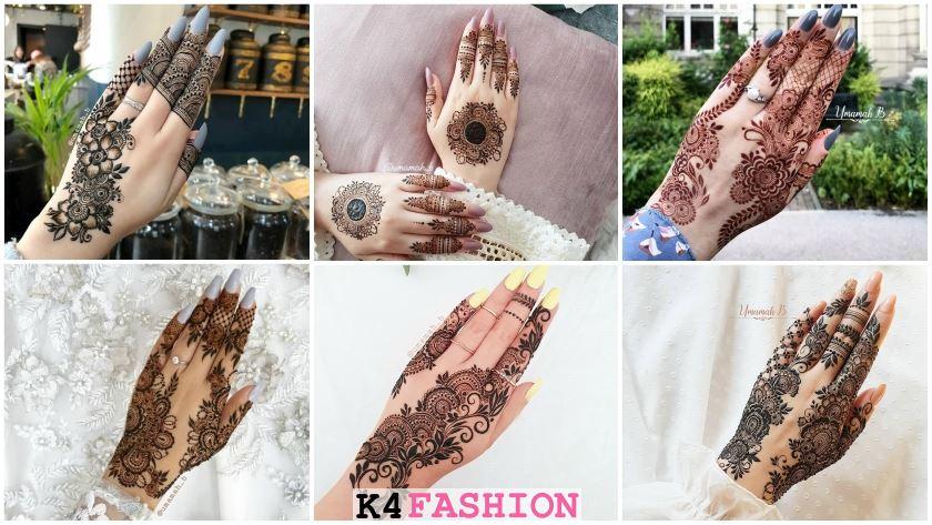 Stylish Back Hand Mehndi Designs From Umamah B K4 Fashion