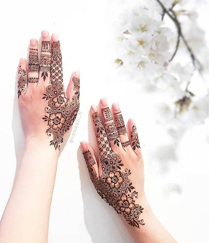 Stylish finger ornate mehndi designs for hands Stylish Back Hand Mehndi Designs from Umamah B