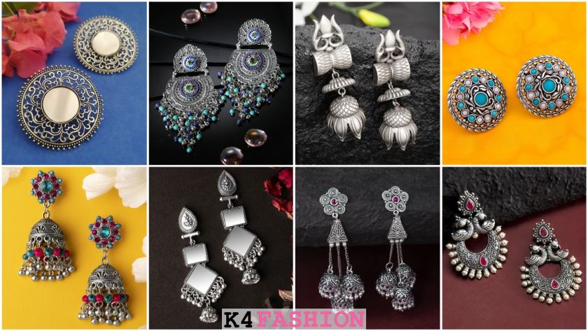 Silver Plated Earrings to Wear in Party & Functions