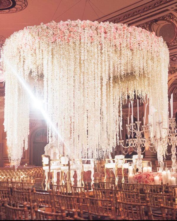 Flower drop downMandap Décor Ideas for your wedding