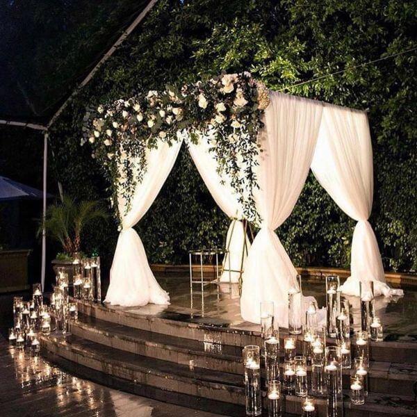 Beautiful CurtainUnique Mandap Decoration Ideas for your wedding