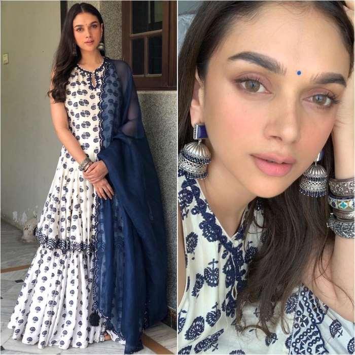 Aditi Rao Hydari in frock style designer sharara suit Designer Sharara Suits Inspo from Bollywood Actresses