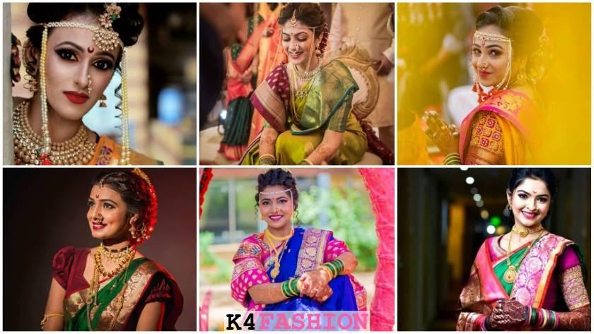 Marathi bridal look in paithani saree