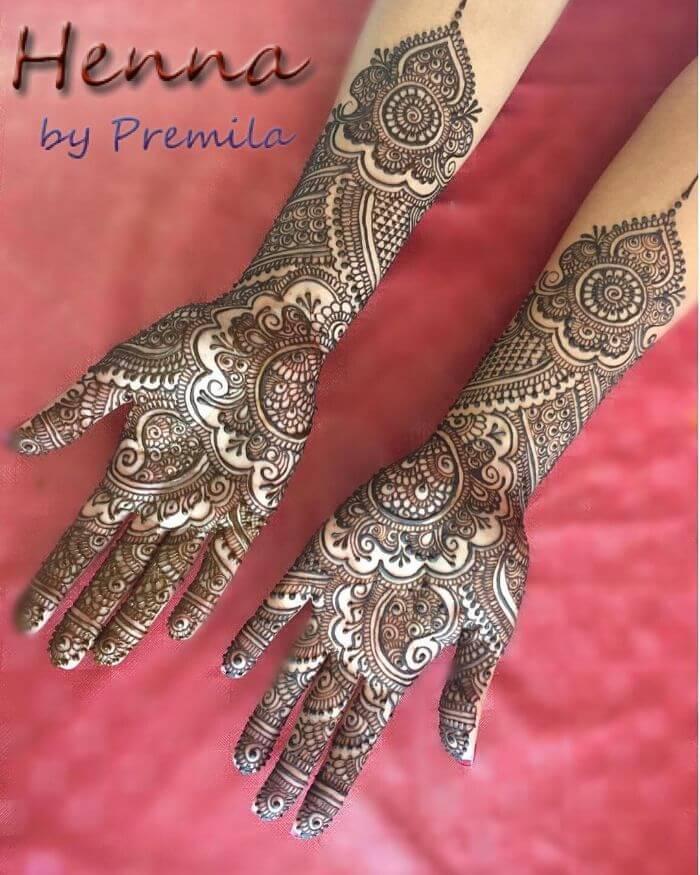 Unique mehndi design for wedding