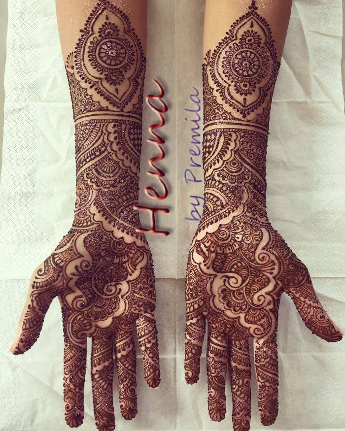 Trending bridal mehndi design for hand Bridal Full Hand Mehndi Designs for Wedding Day