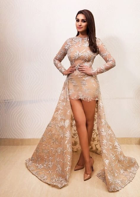 Bollywood actress Parineeti Chopra in wedding outfit Bold in nude