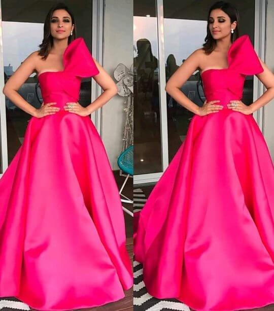 Bollywood actress Parineeti Chopra in wedding outfit Pretty in pink