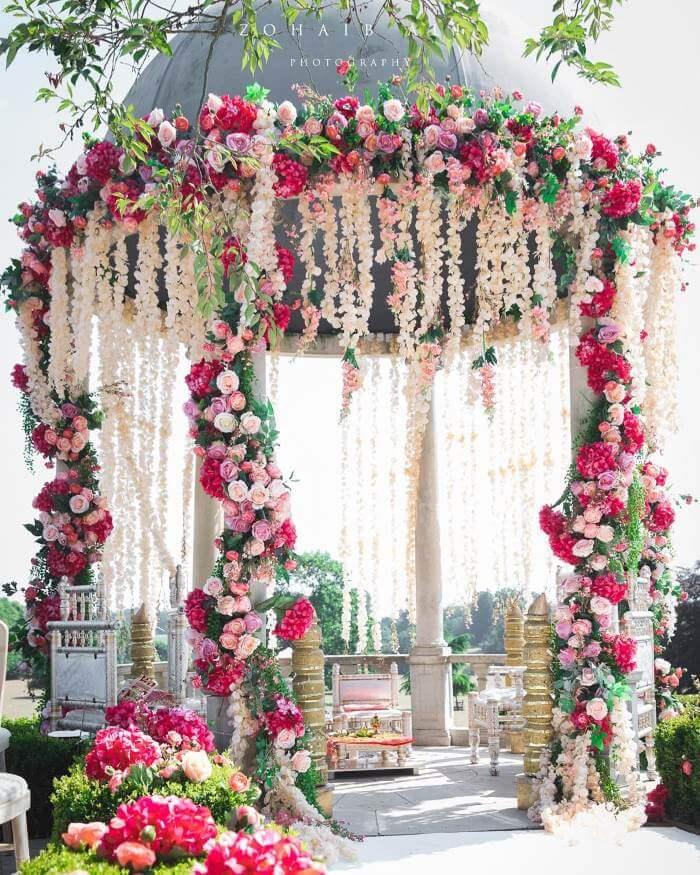 Floral Dome Designer Mandap Design