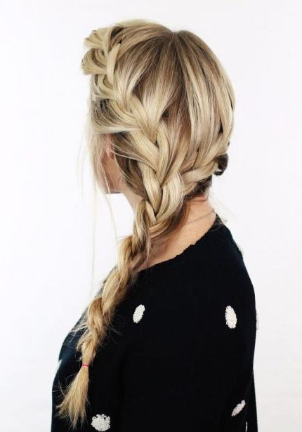 Stylish French Braid Hairstyle Tutorials K4 Fashion