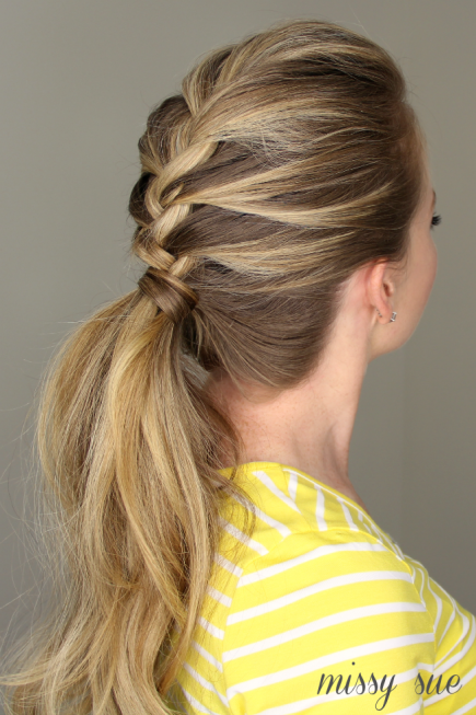 FRENCH BRAID PONYTAIL HAIRSTYLE Stylish French Braid Hairstyle Tutorials