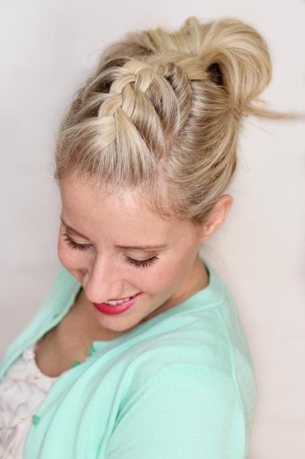 FRENCH BRAIDED POMPADOUR Stylish French Braid Hairstyle Tutorials