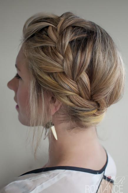 FRENCH CROWN BRAID HAIRSTYLE Stylish French Braid Hairstyle Tutorials
