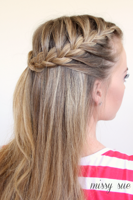 HALF-UP FRENCH BRAIDS HAIRSTYLE Stylish French Braid Hairstyle Tutorials