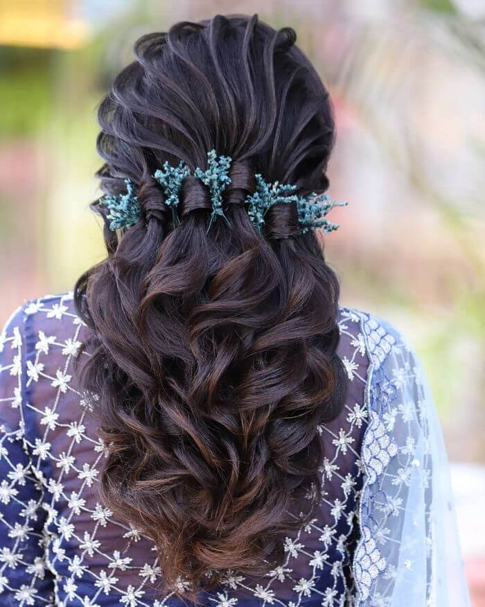Beautiful curls hairstyle for Indian wedding Indian Wedding Hairstyles for Long Hair